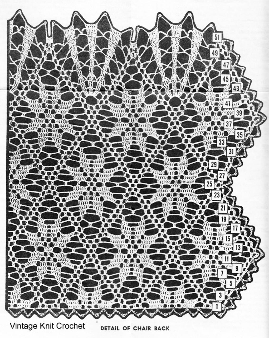 Crochet Flower Chair Doily Illustration for Laura Wheeler 847