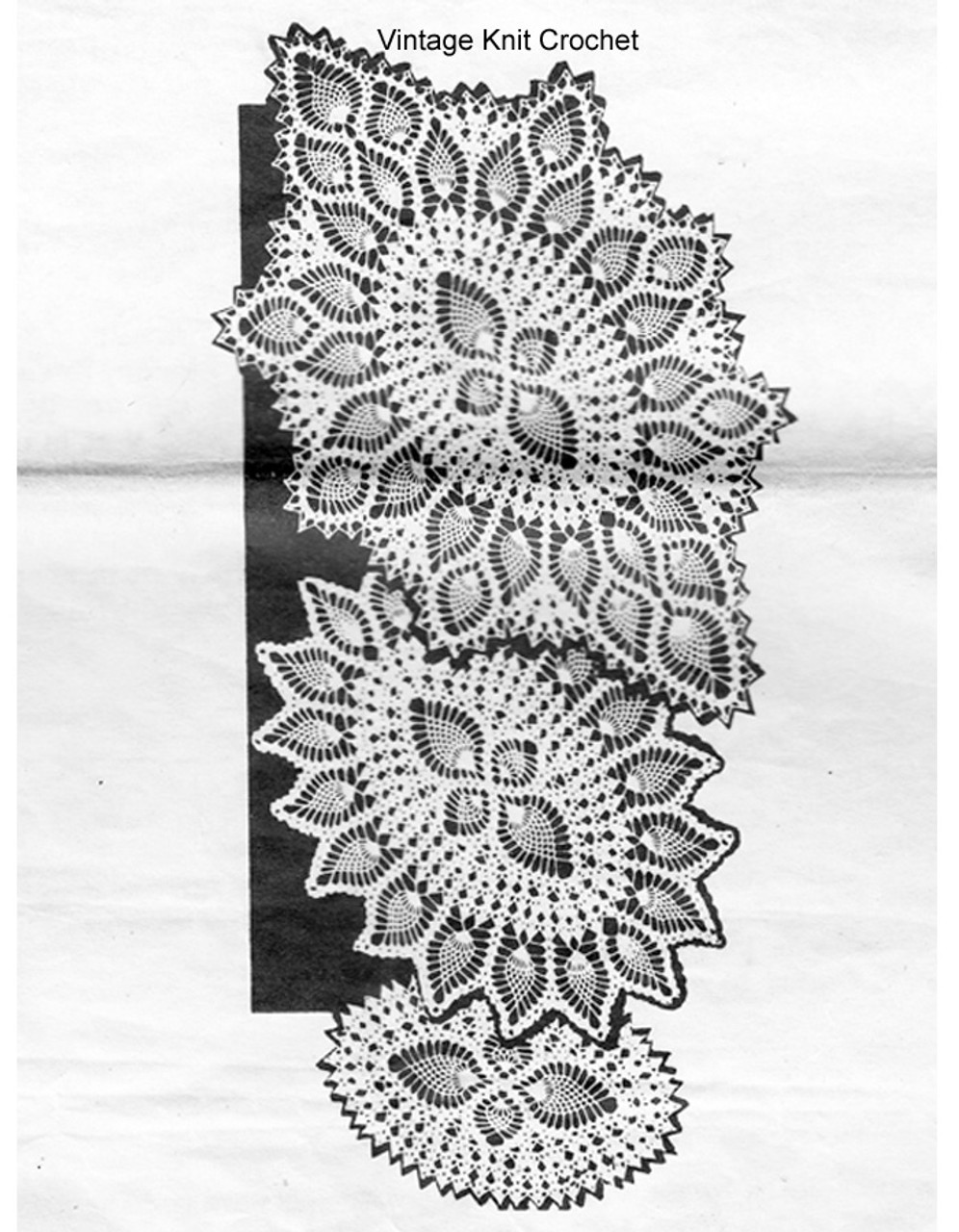 Oval Crochet Doilies, Small medium large, Mail Order Design 850