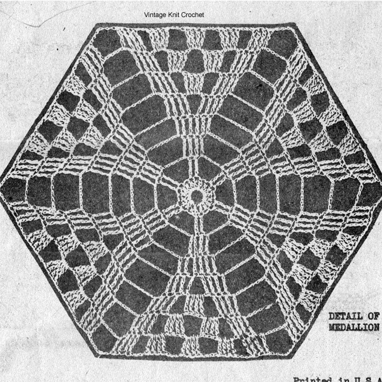 Crochet Star Medallion Pattern, Mail Order 3035