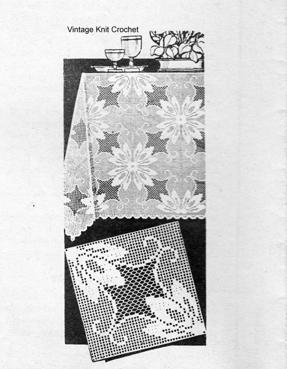 Mail Order Filet Crochet Square Pattern,  American Weekly 3069