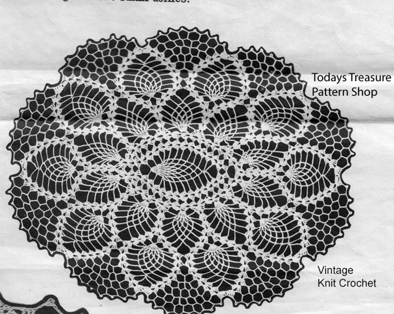 Small Oval Crochet Doily Pattern, Design 3050