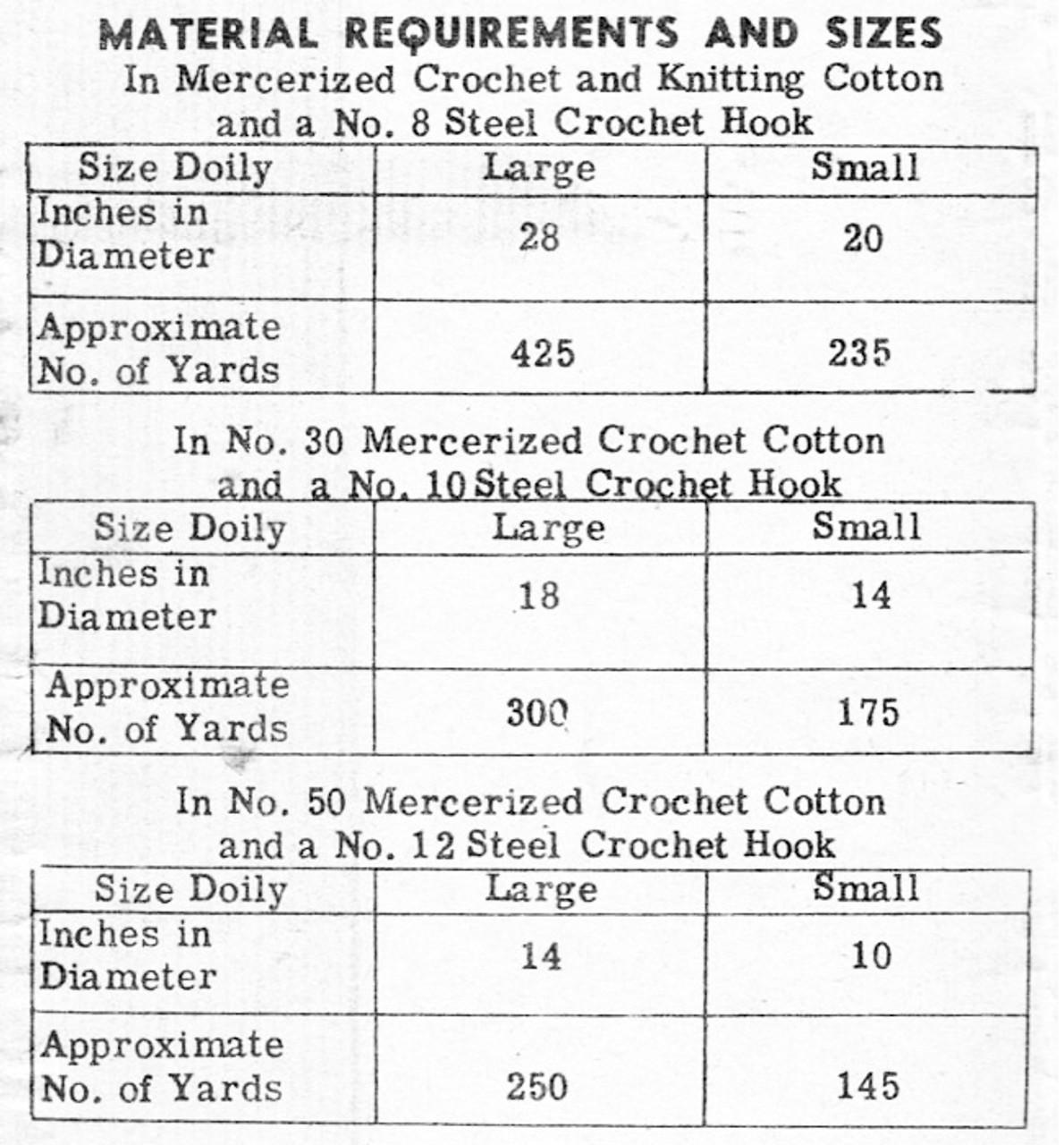 Crochet Fern Doilies Pattern, Alice Brooks 7488
