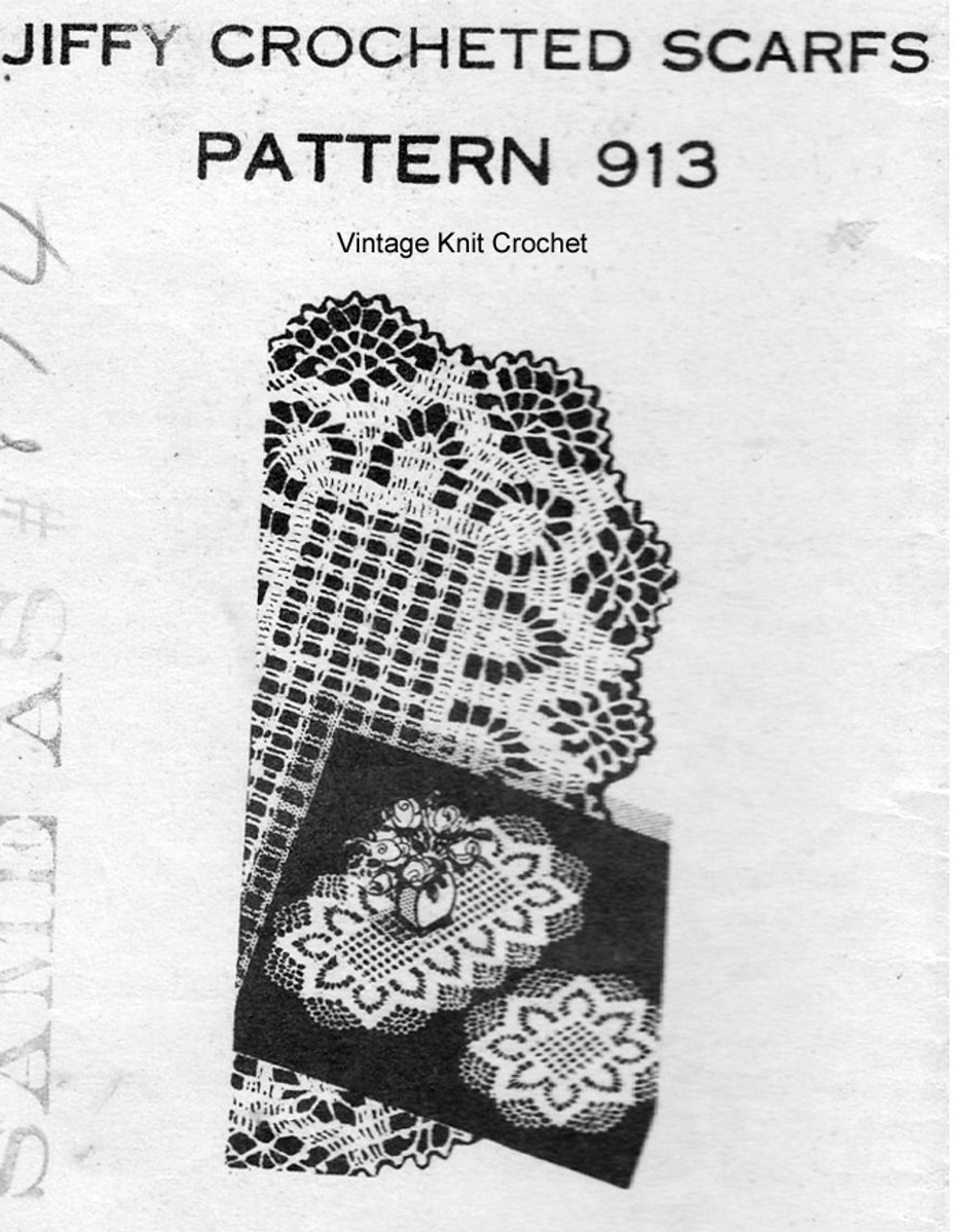 Crochet Pineapple Luncheon Set Pattern, Mail Order 913