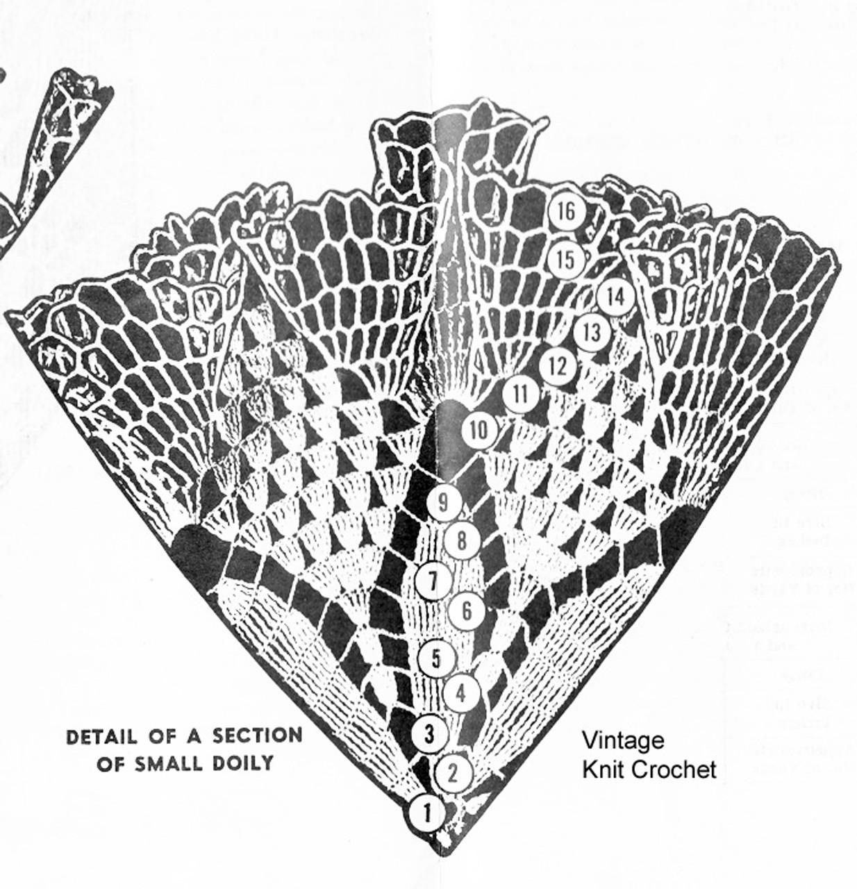 Small Ruffled Doily Pattern Illustration for Design 7049