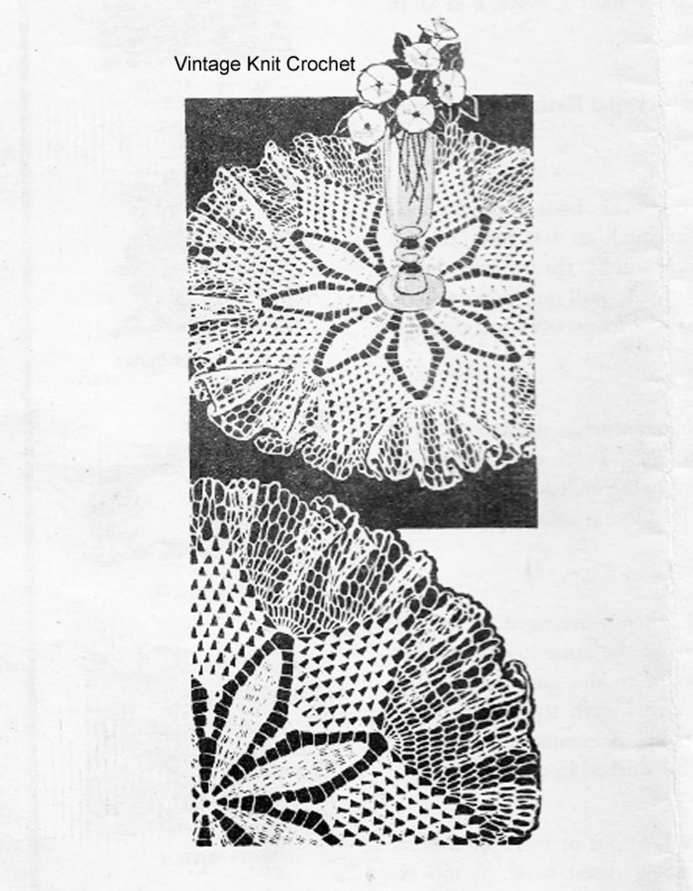 Ruffled Centerpiece Doily Pattern, Alice Brooks 7049