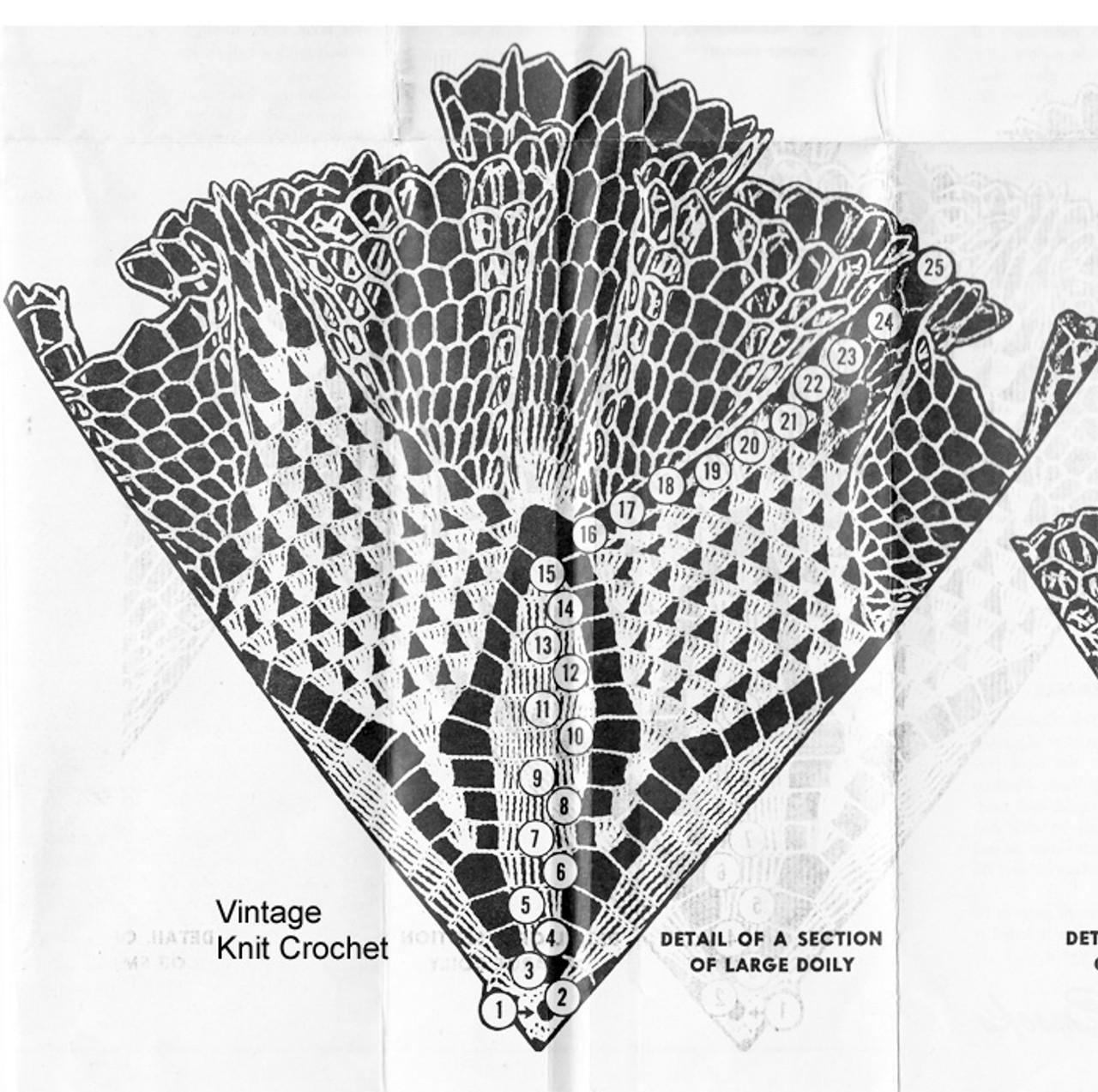 Large ruffled doily illustration for Design 7049