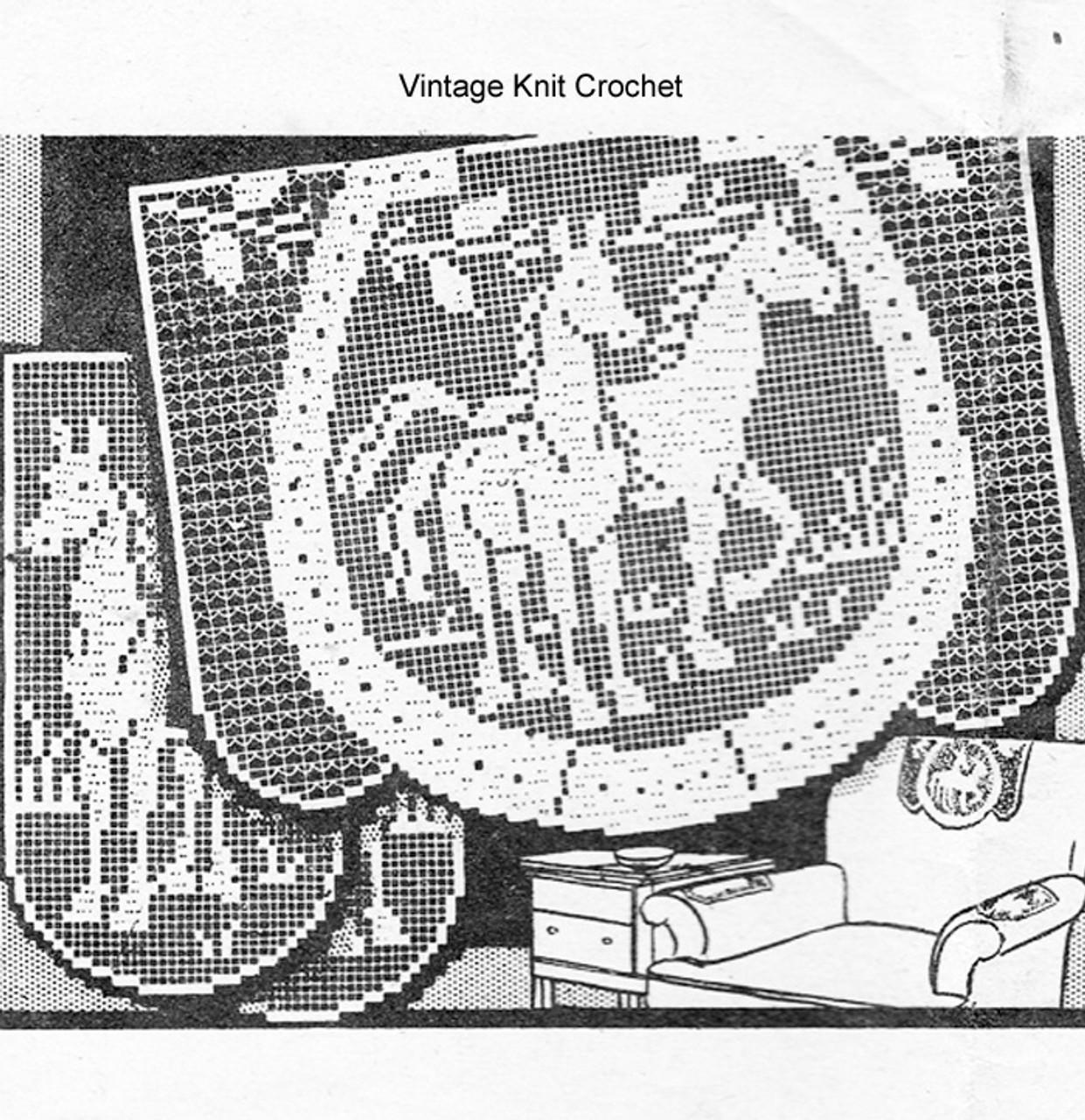Horses in Horseshoe filet crochet pattern, Laura Wheeler 825