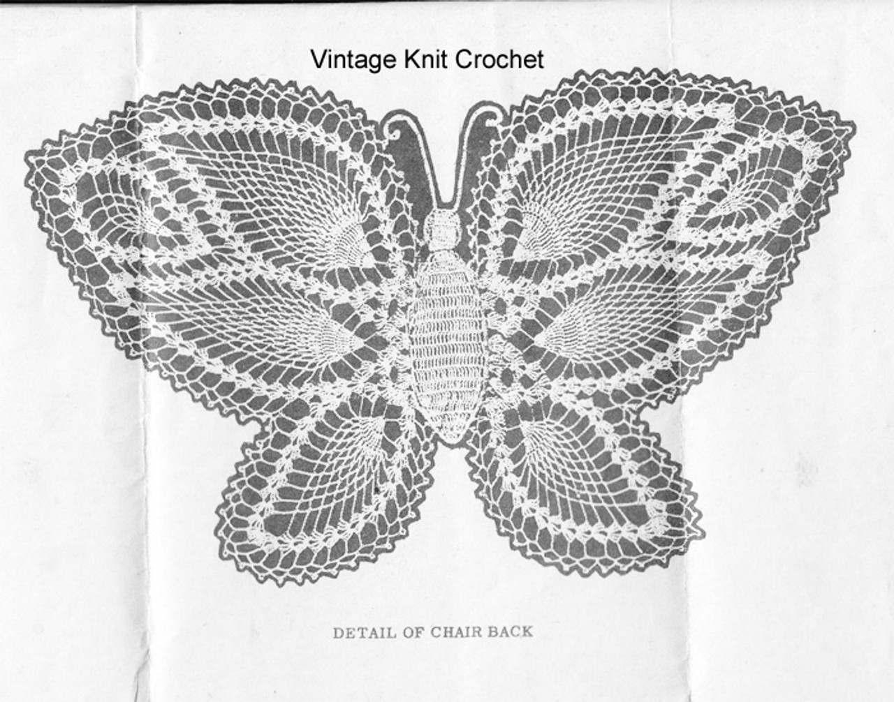 Butterfly Crochet Pattern Stitch Illustration for Design 828