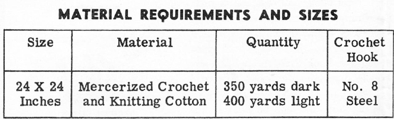 Crochet Leaf Centerpiece Doily, Mail Order 7339
