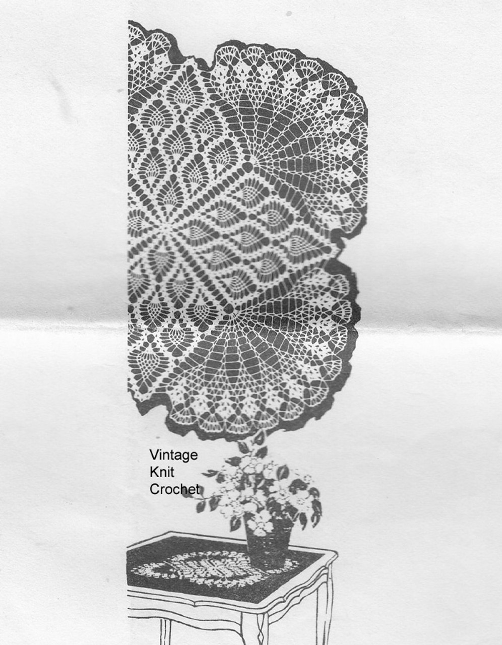 Mail order crochet pineapple cloth pattern, Mail Order 982