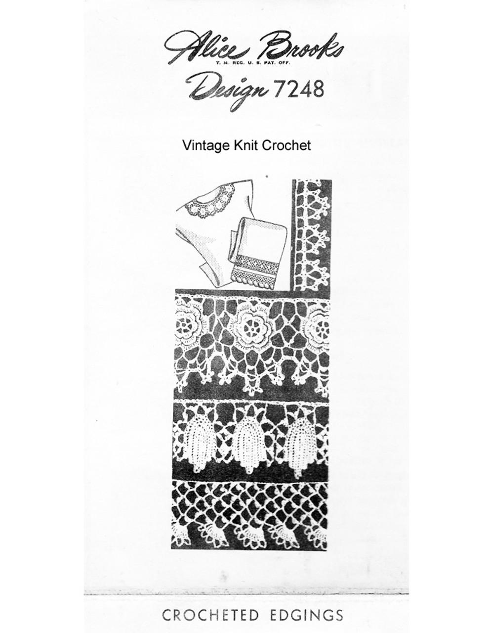 Edgings Insertion patterns in Irish Crochet, Mail Order 7248