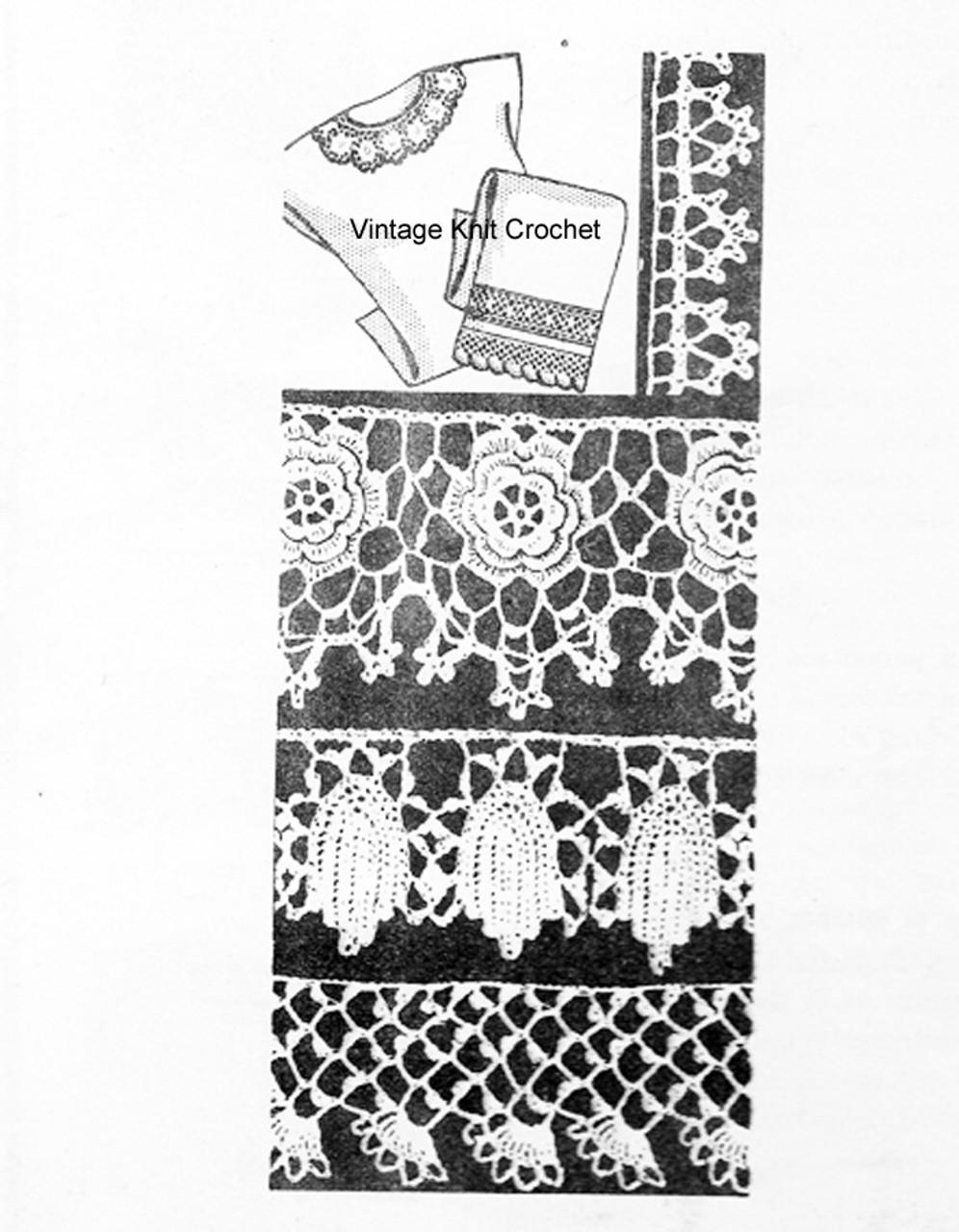 Vintage Irish Crochet Edgings Pattern, Design 7248