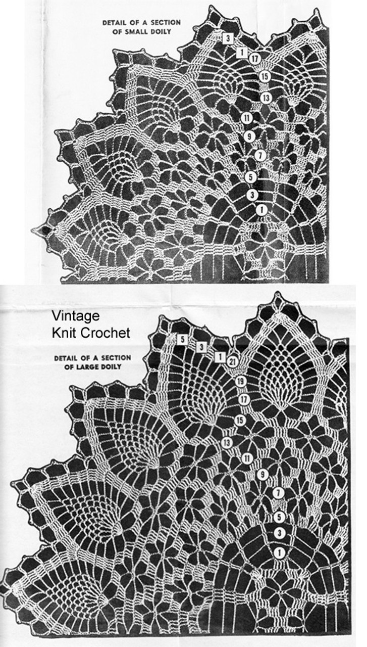 Crochet spiderweb Doilies Illustration for Mail Order Design 833