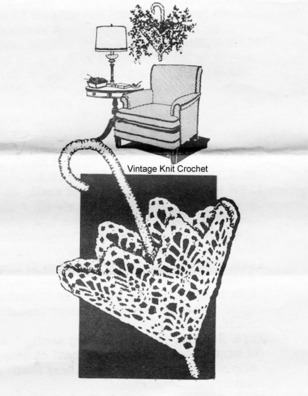 Mail Order Crochet Pineapple Planter Pattern, Alice Brooks 7098