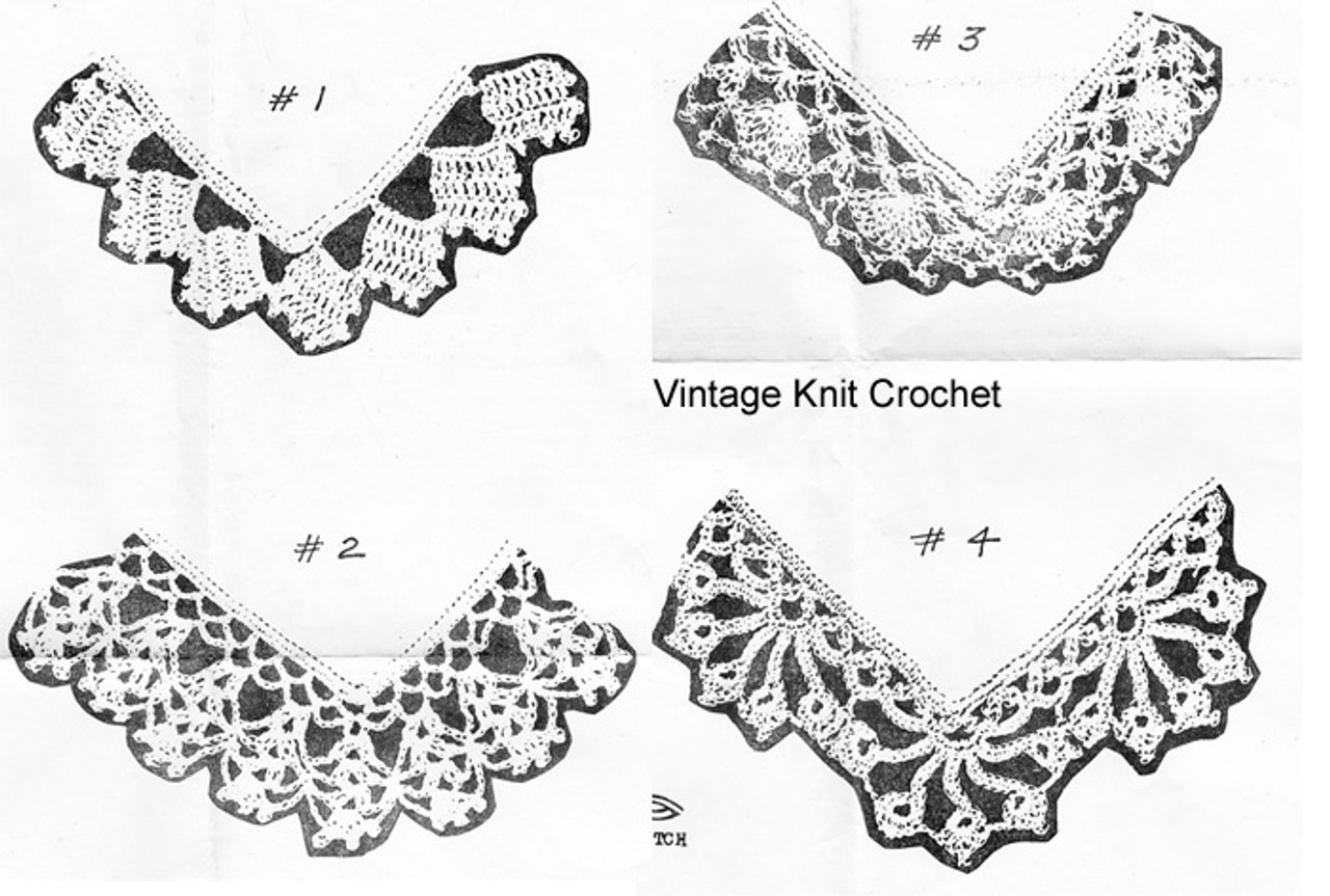 Old Lace Crochet Edgings Illustration for Mail Order 1241