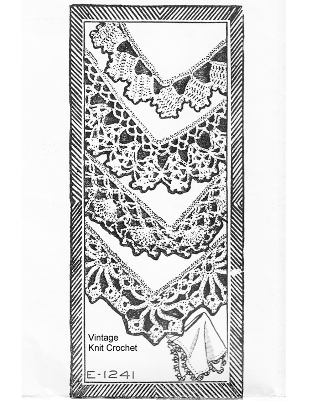 Garden Walk Crochet Edging Pattern, Design 1241
