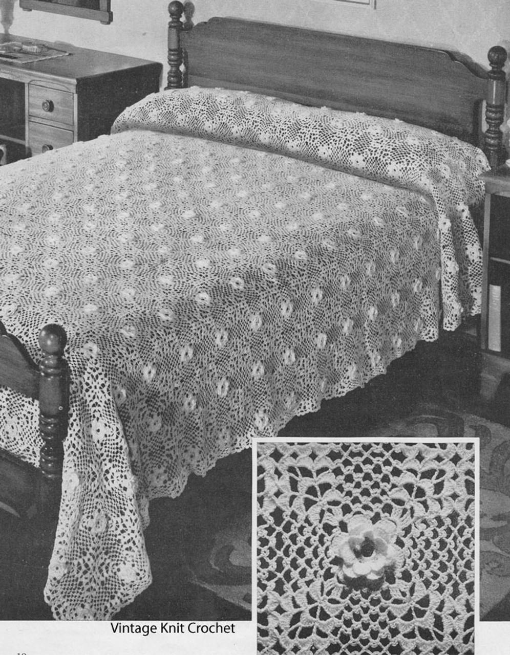 Crocheted Irish Rose Bedspread Pattern