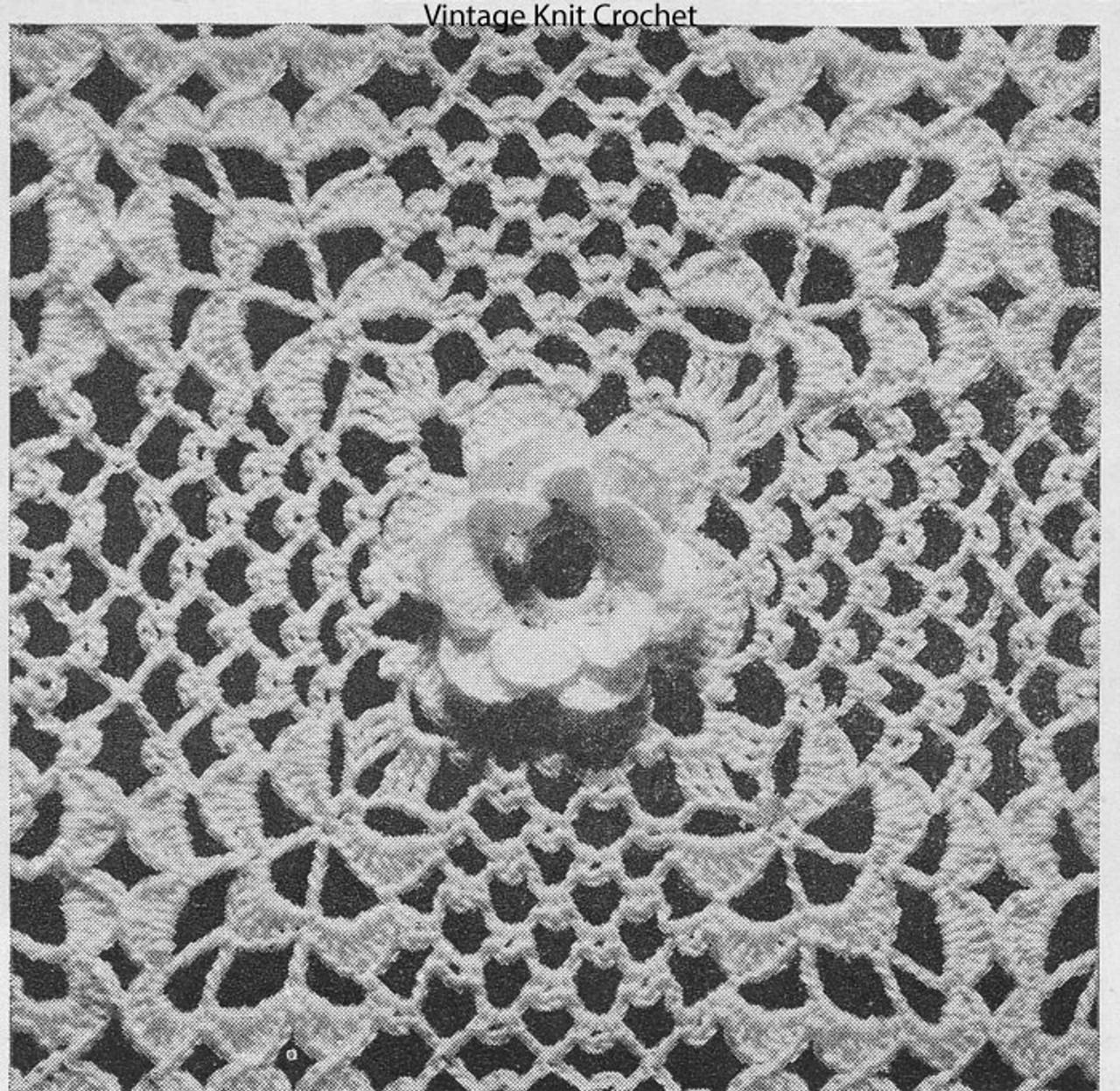 Vintage Irish Rose Square Pattern No 657