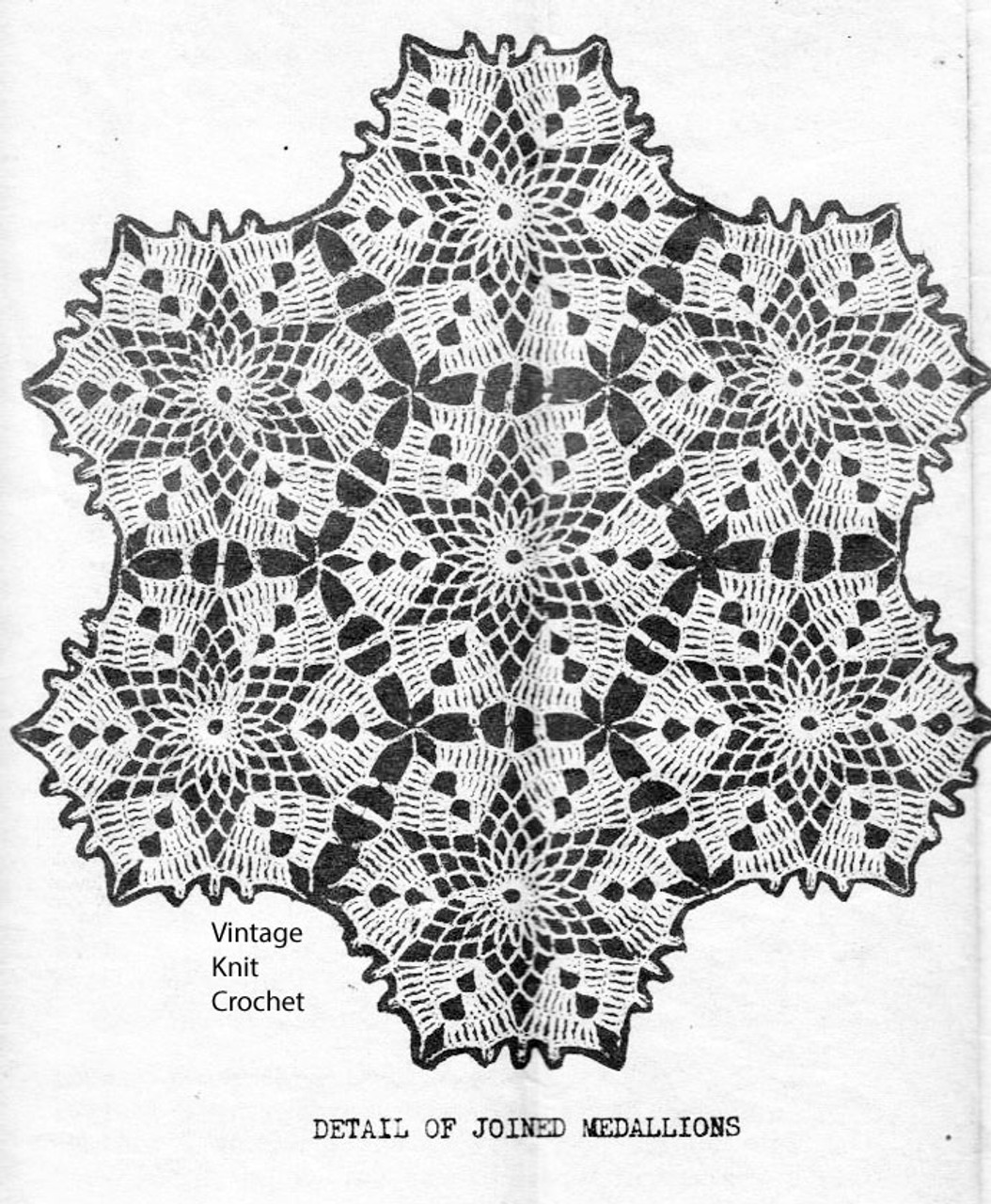 Star Medallions Crochet Pattern Joined for Design 2675