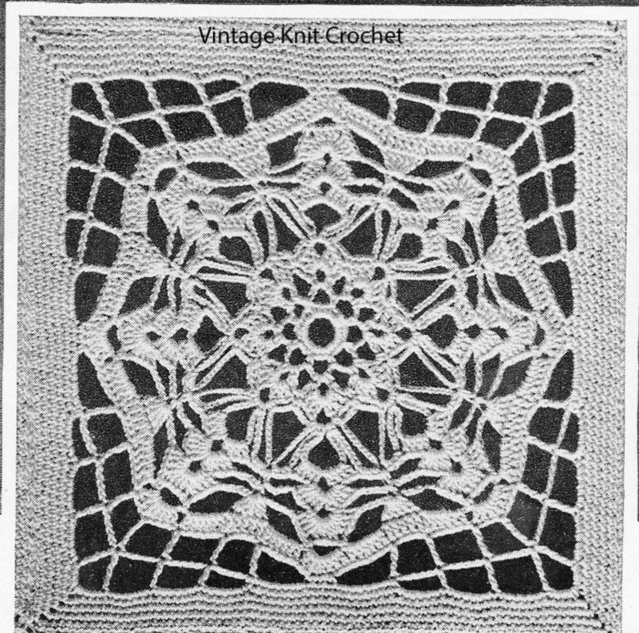 Geometric crochet square pattern, bedspread