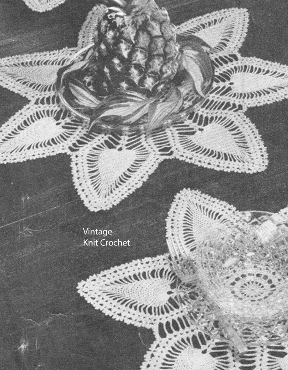 Vintage Crocheted Pineapple Mats Pattern