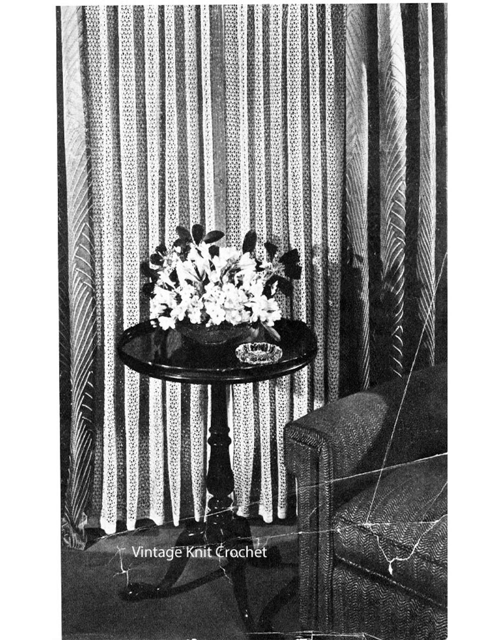 Vintage Crochet Curtain Panel Pattern