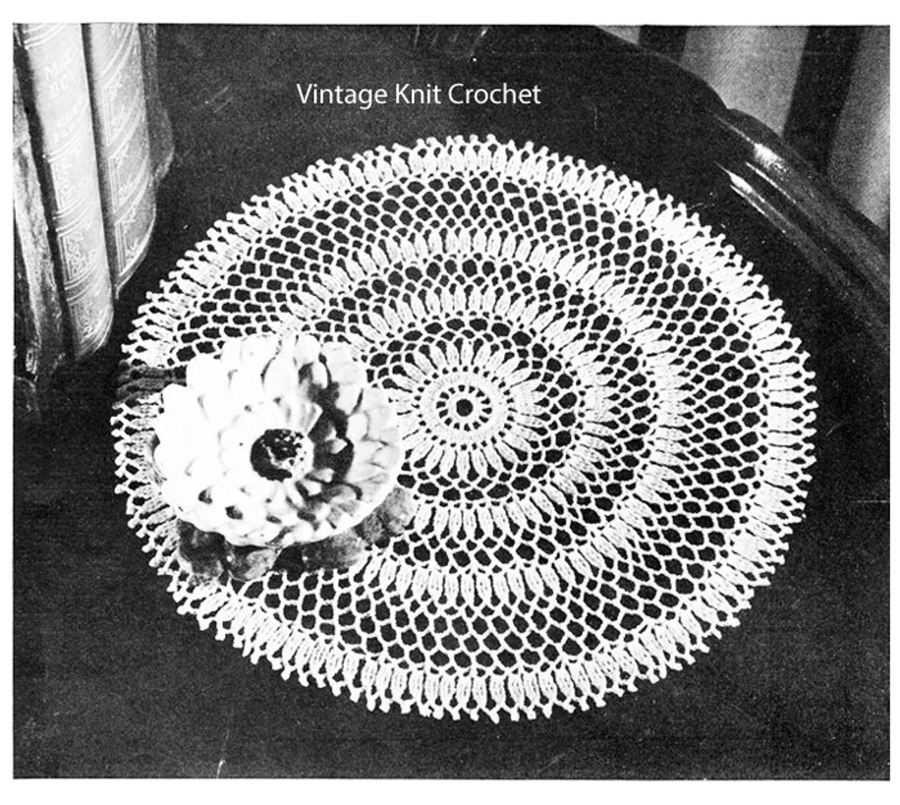 Small Cluster Doily Crochet Pattern measures 8-1/2 inches