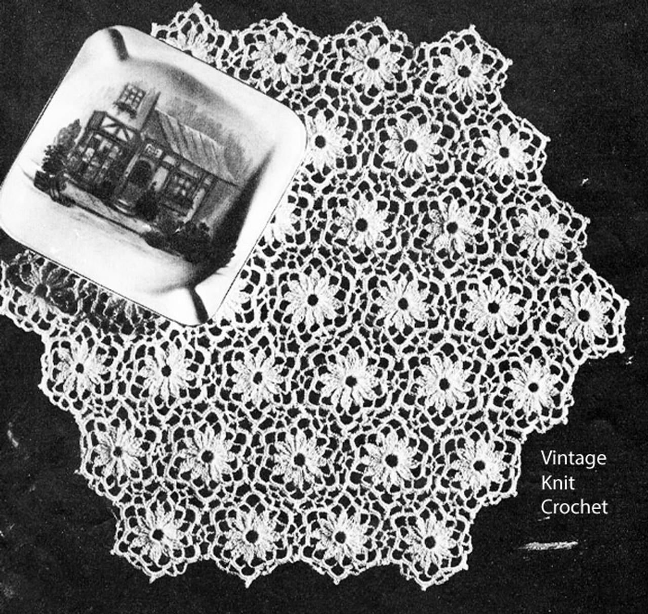 Free Medallion Crochet Doily Pattern