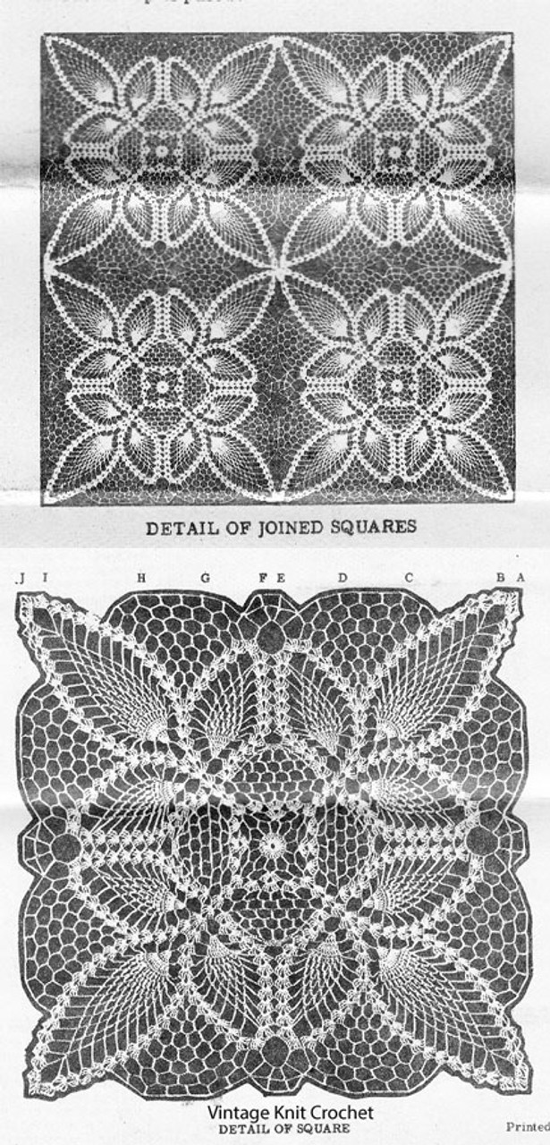 Pineapple Square Illustration, American Weekly 3080
