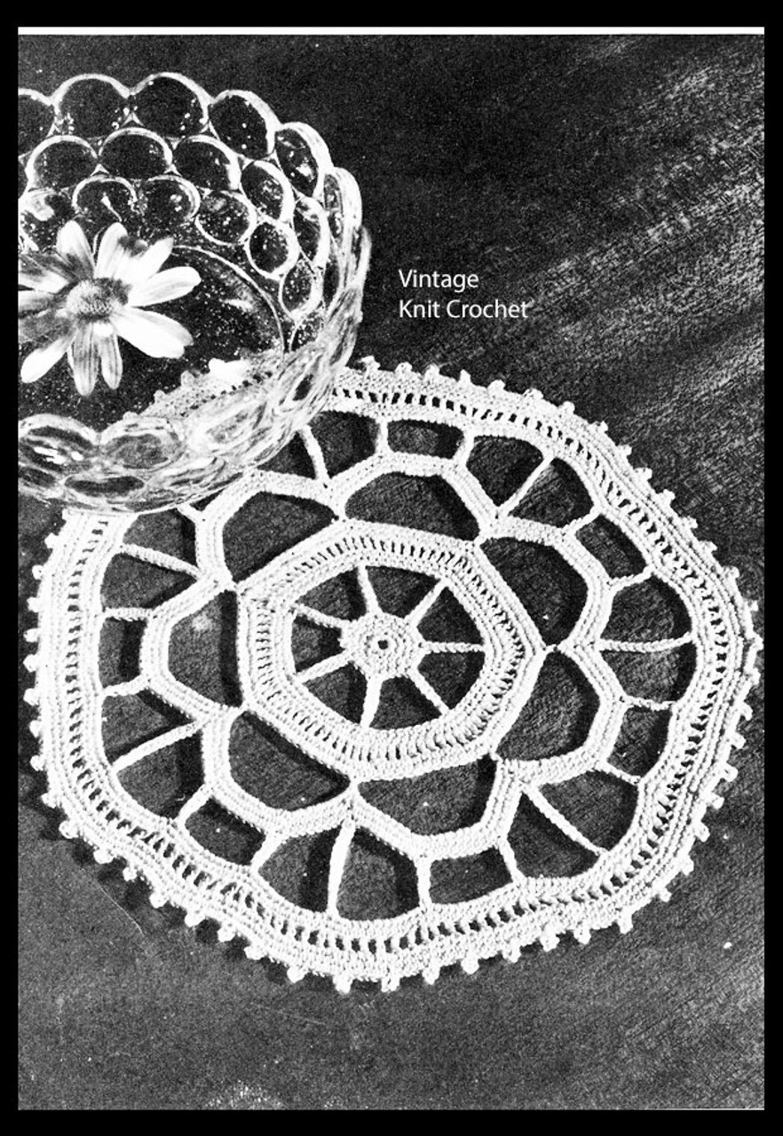Free Small Crochet Doily pattern