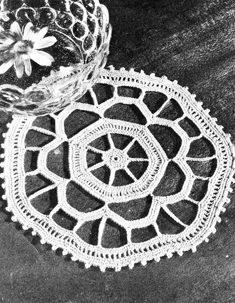 Small Ice Cream Doily Pattern, Free Download