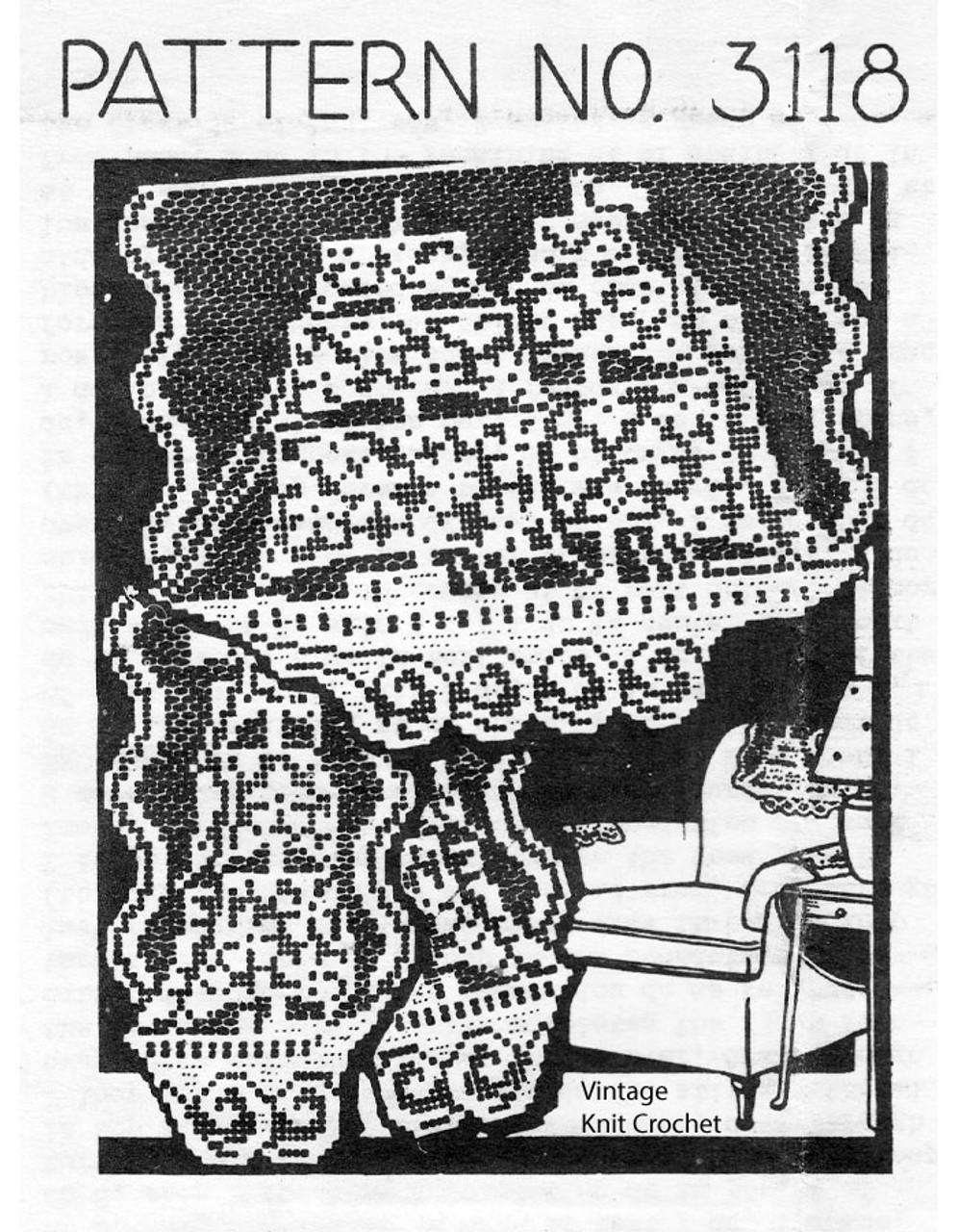 Filet Crochet Viking Ship Pattern, Mail Order 3118