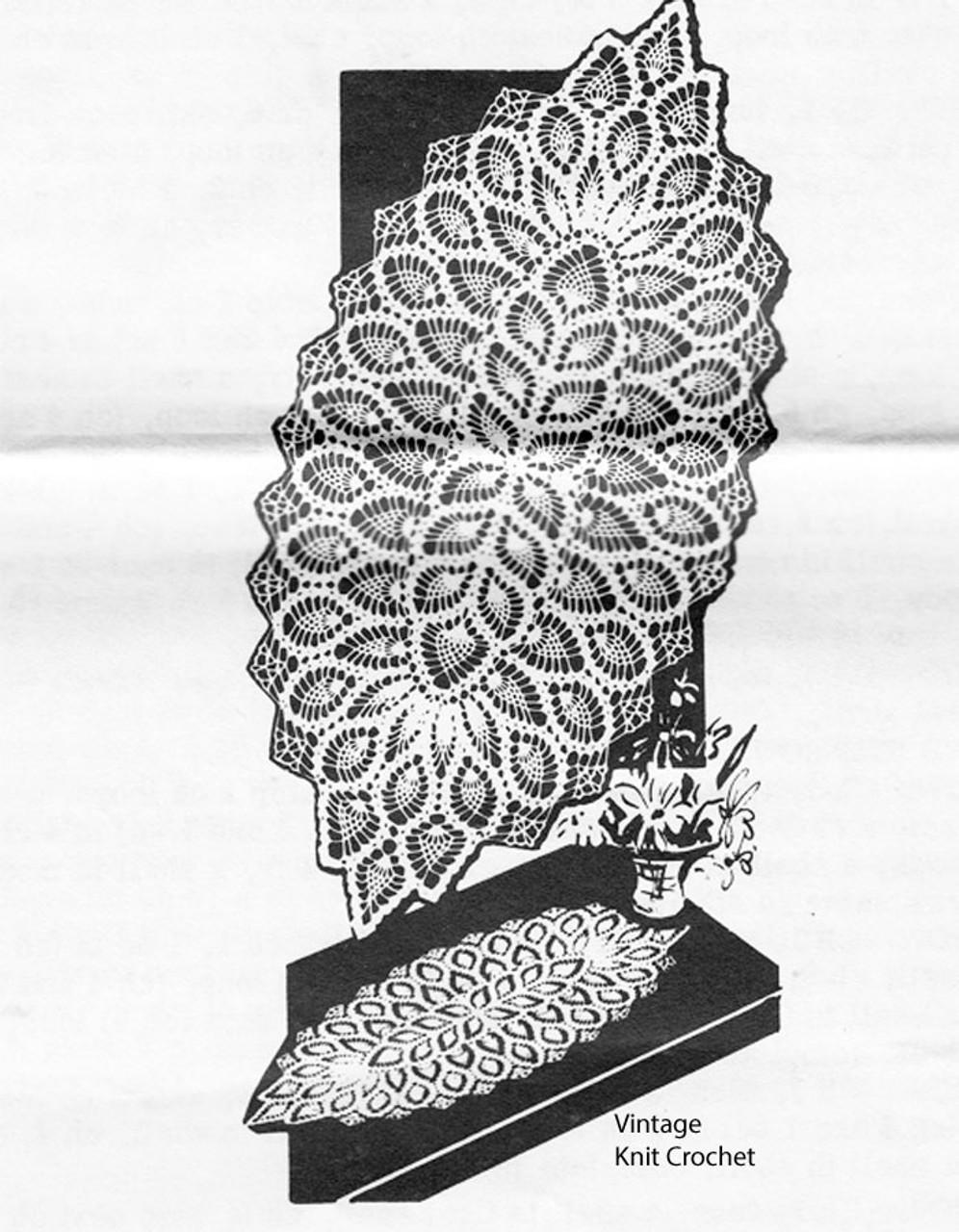Pineapple Crochet Runner Pattern, Design 792