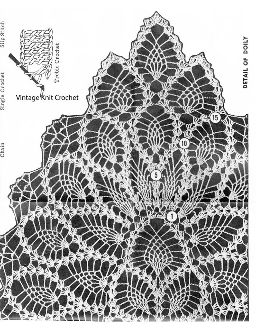Pineapple Doily Illustration, Laura Wheeler 6792