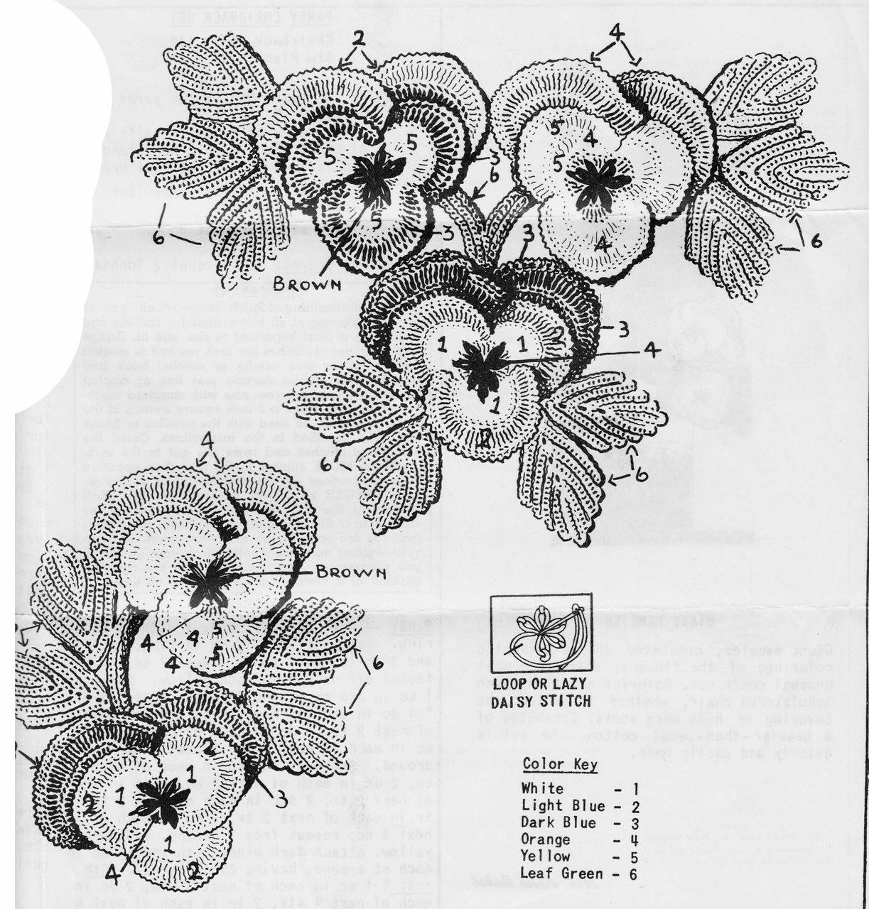 Crocheted Pansies Illustration
