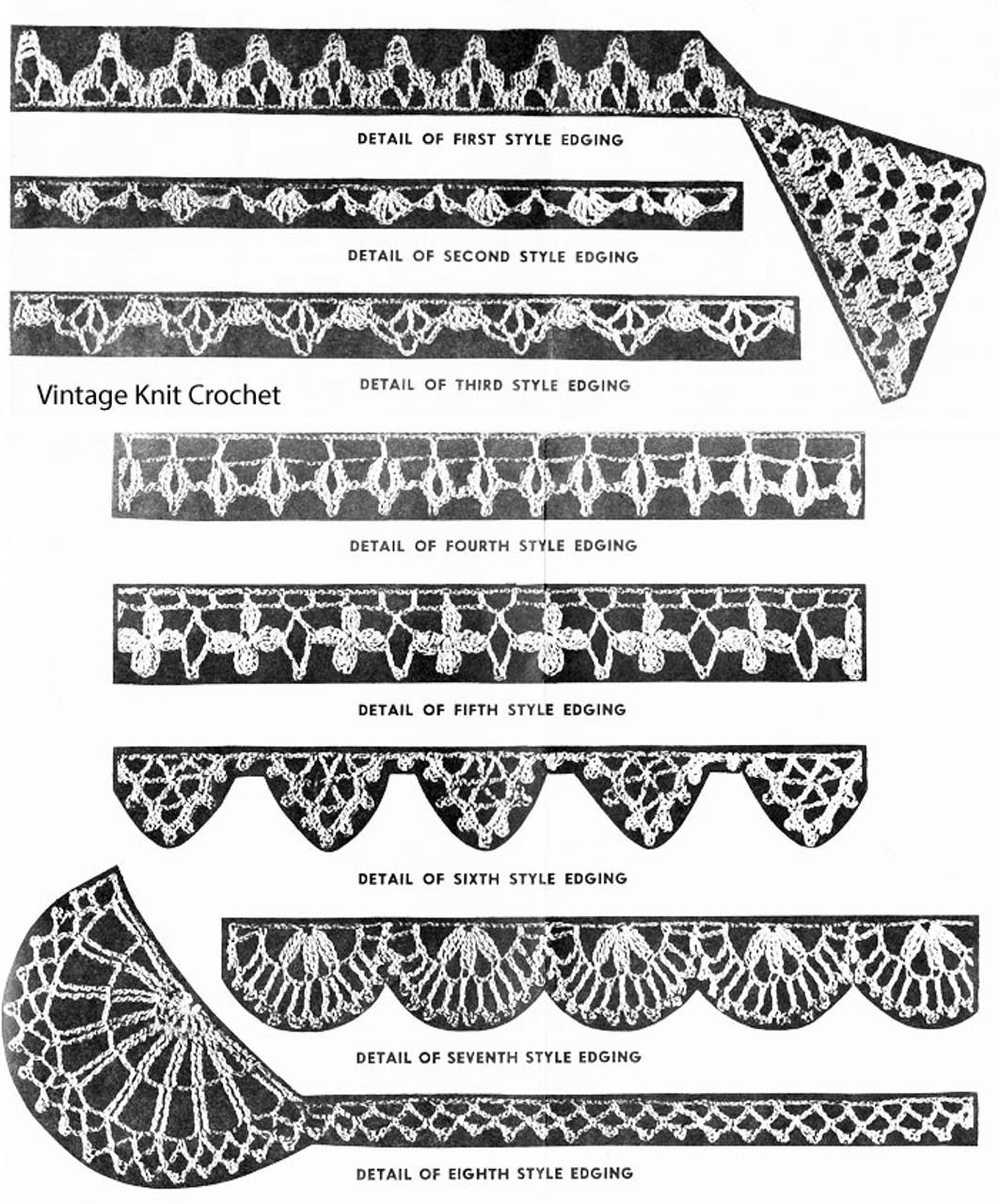Seven Crochet Edgings Detail, Alice Brooks 7393