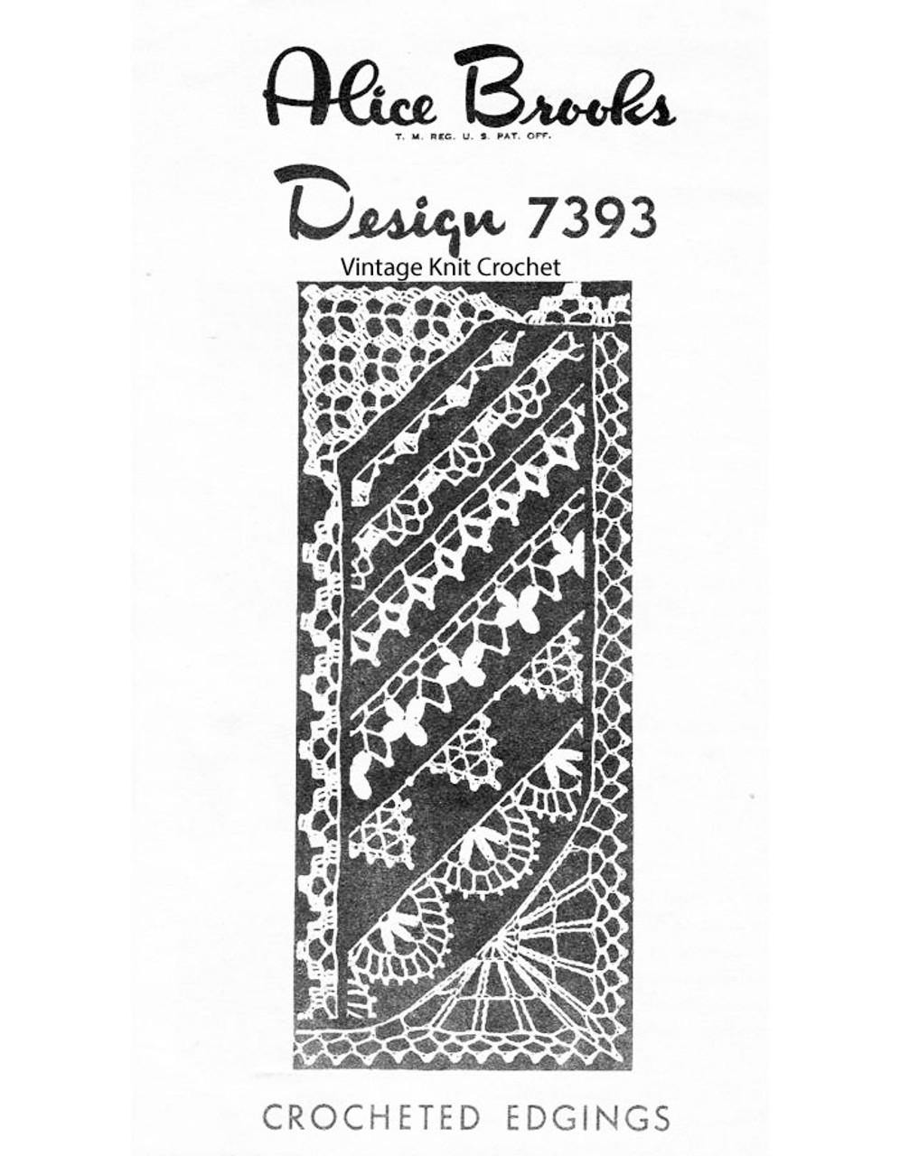 Vintage Crochet Edgings Pattern, Mail Order Design 7393