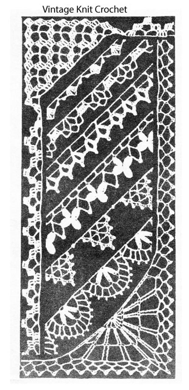 Mail Order Crochet Edges Pattern, Design 7393