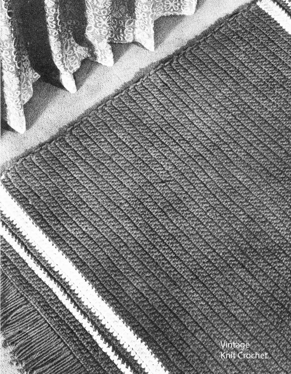 Crochet Bedroom Rug Pattern, Vintage 1940s