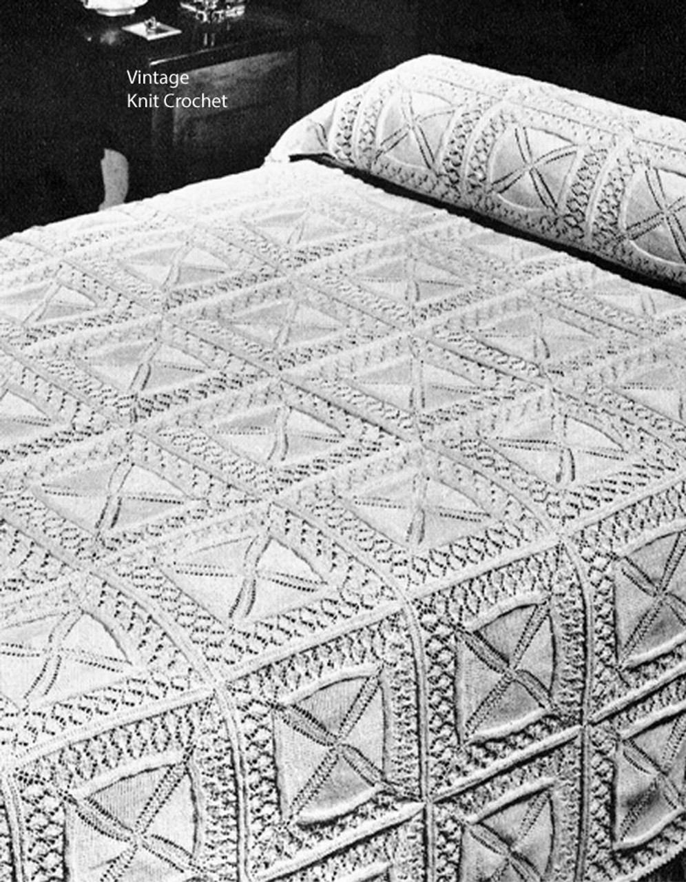 Vintage Knitted Bedspread Pattern No 4073