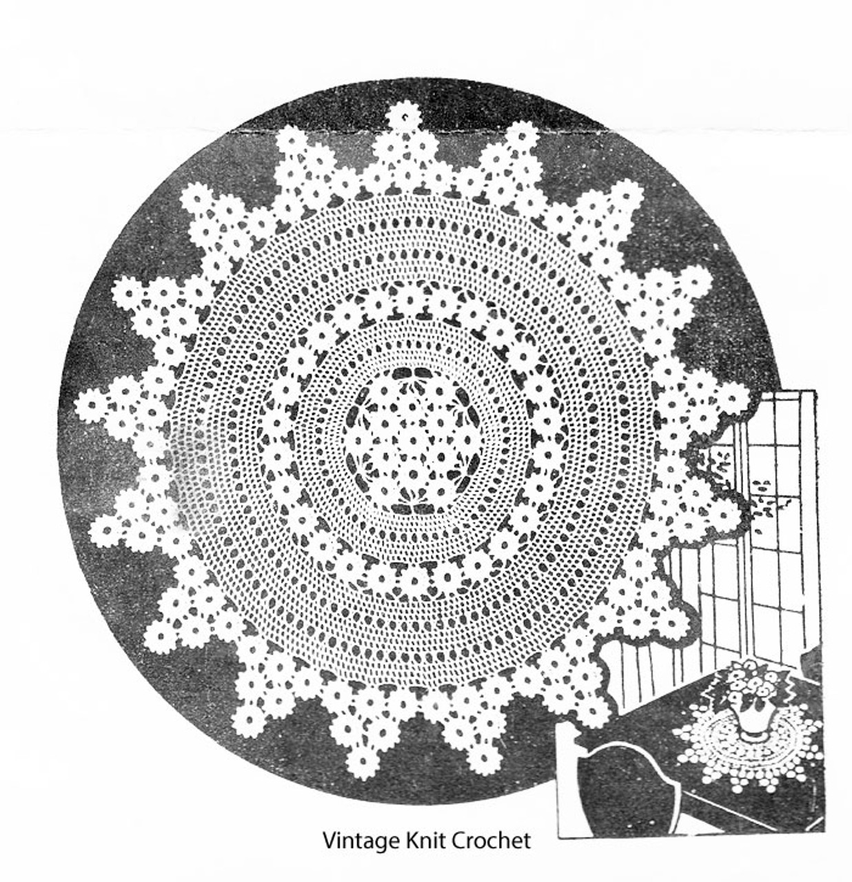 Mail Order Crocheted Snowflake Doily Pattern No 1521