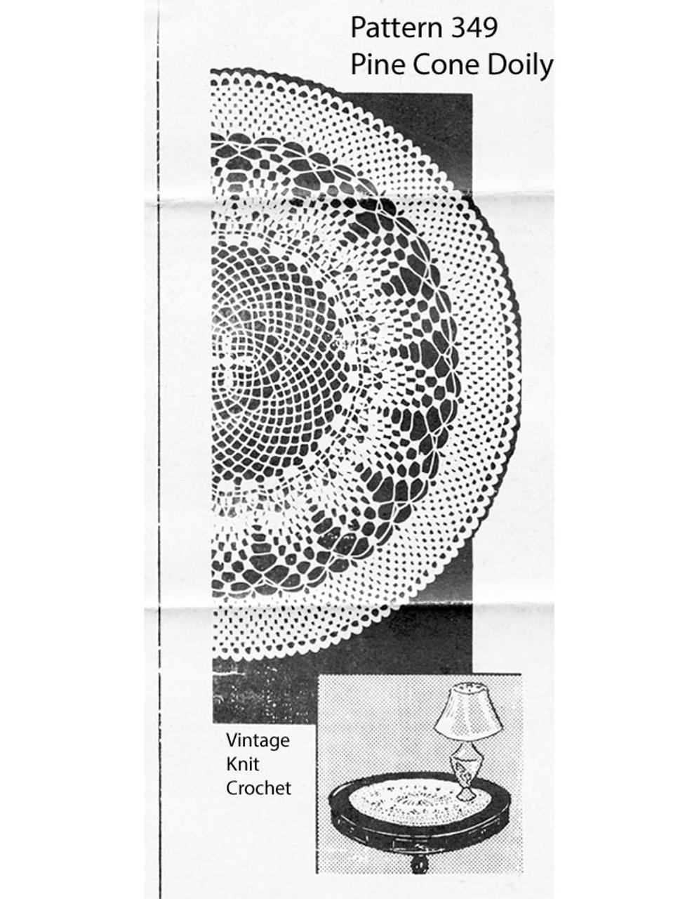 Crochet Centerpiece Doily Pattern, Carol Curtis 349