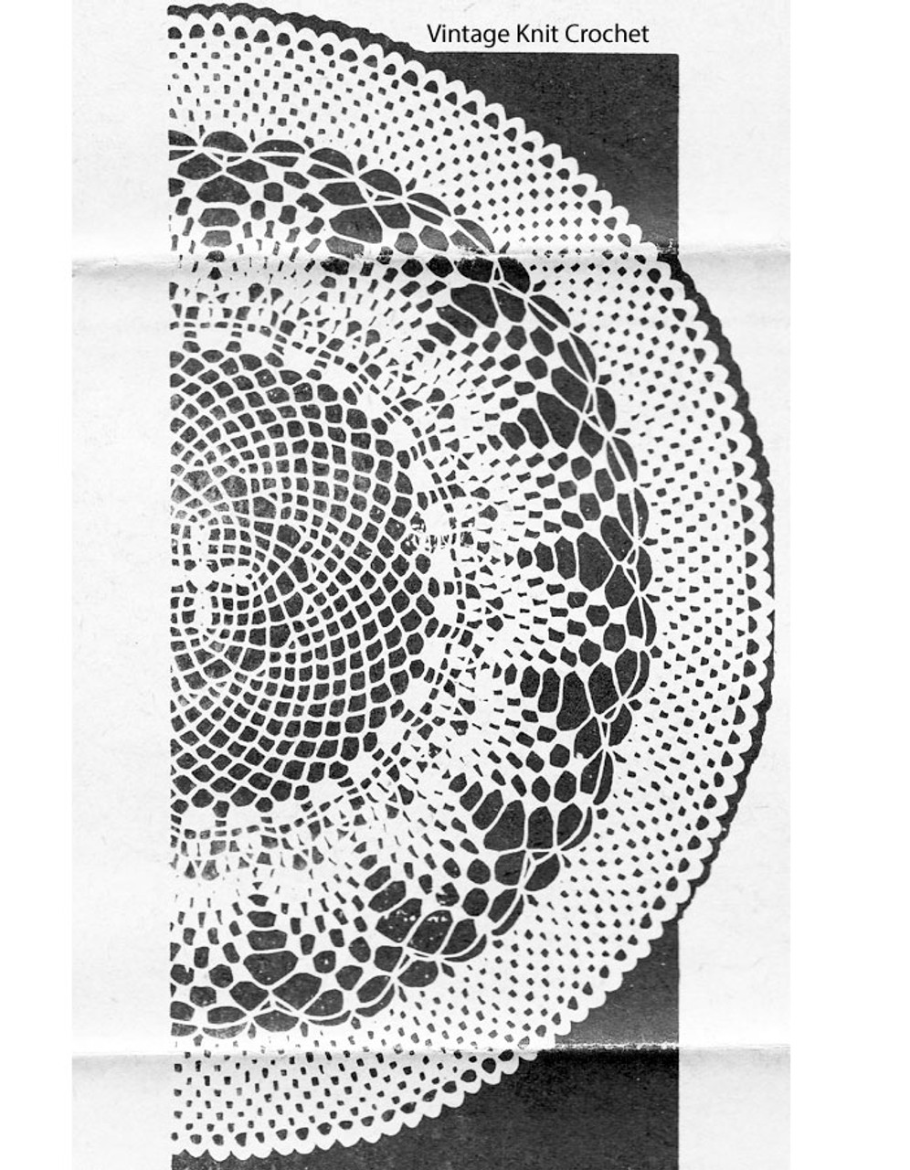 Pine Cone Crochet Doily Pattern, Mail Order 349