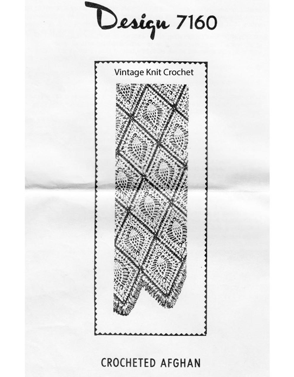 Crochet Pineapple Blanket Pattern, Mail Order 7160