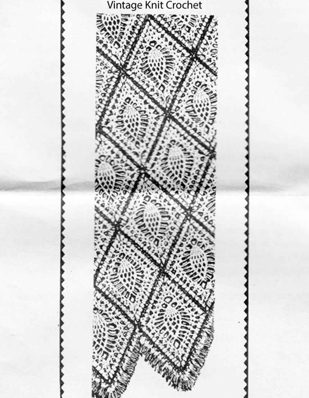 Pineapple diamond crochet afghan pattern, Alice Brooks 7160