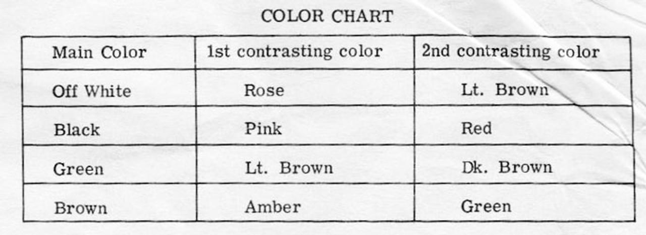 Color Chart for Crochet Afghan Design 7368