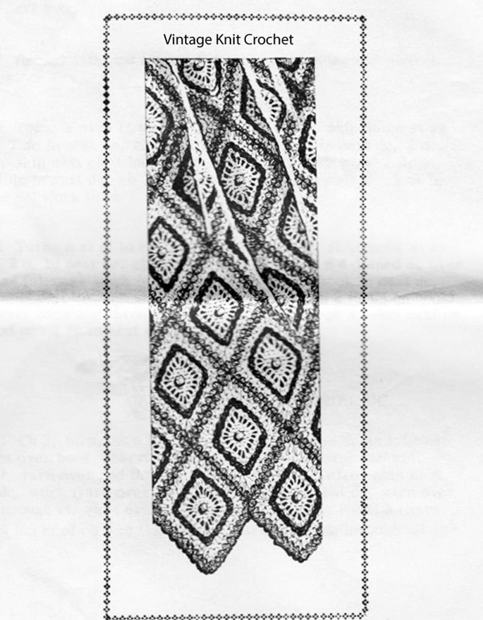 Easy Diamond Medallion Blanket Pattern, Alice Brooks 7368