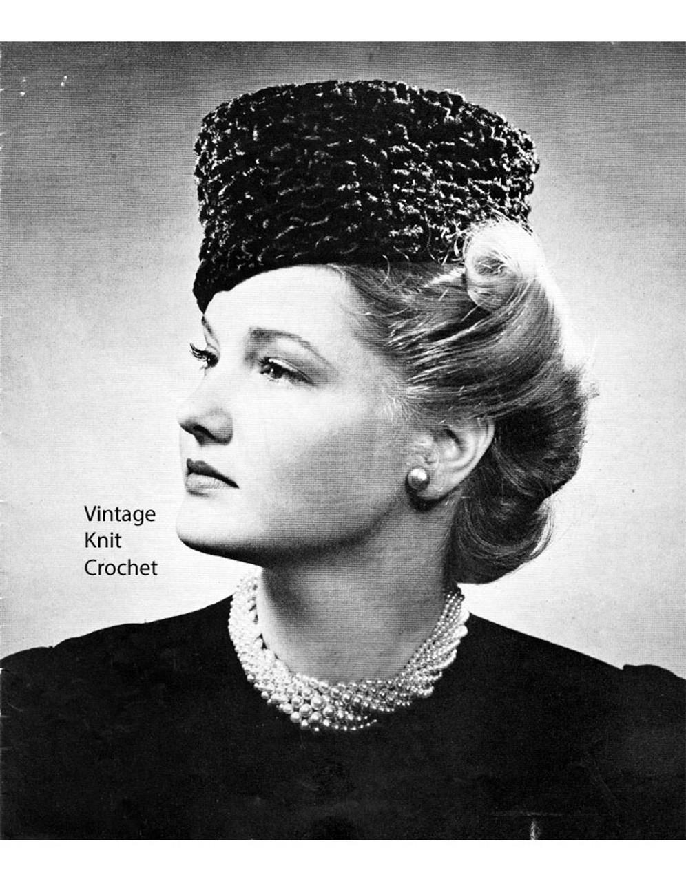 Vintage Fez Knitting Pattern, 1939