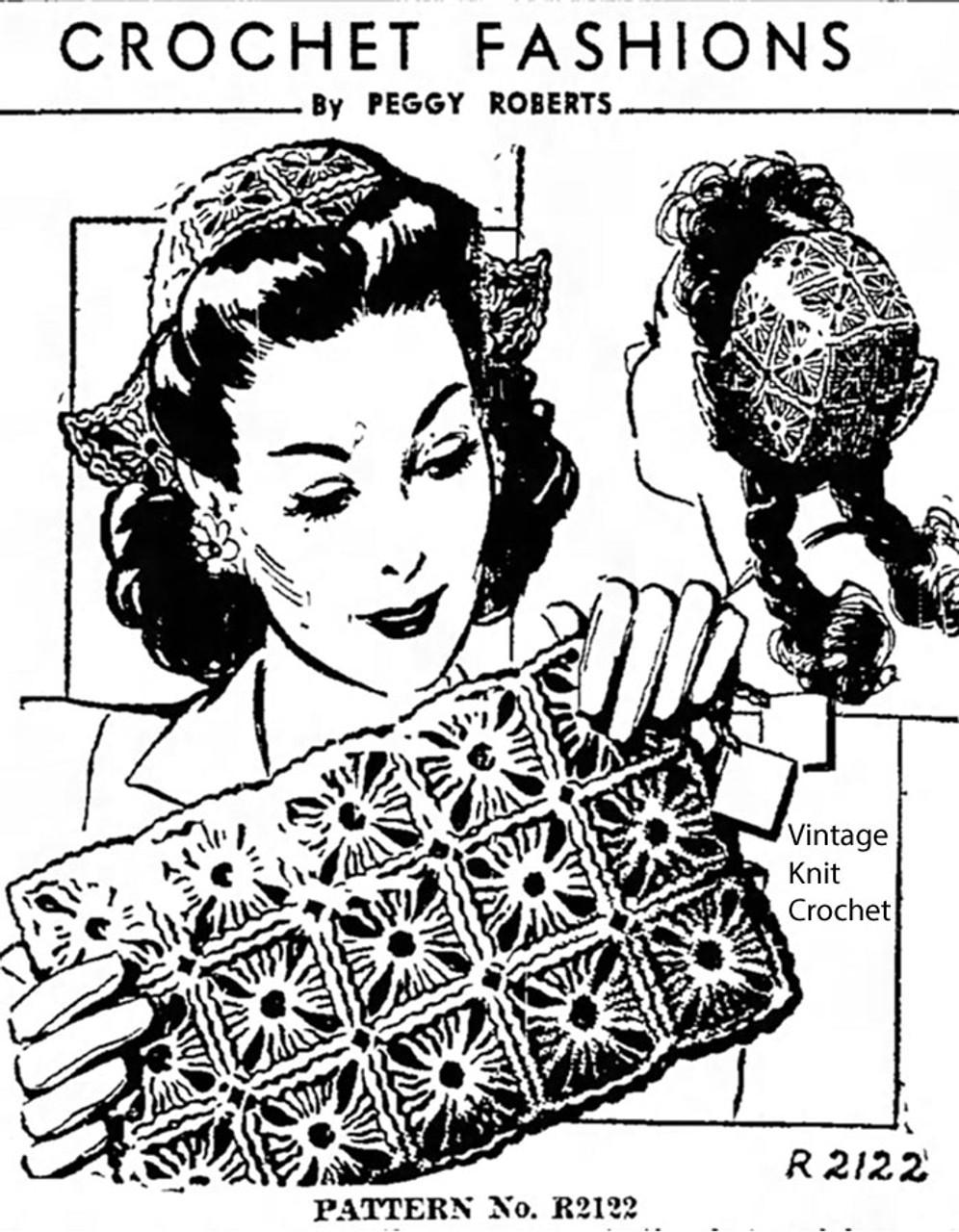 Crochet Dutch Cap Pattern, Peggy Roberts 2122