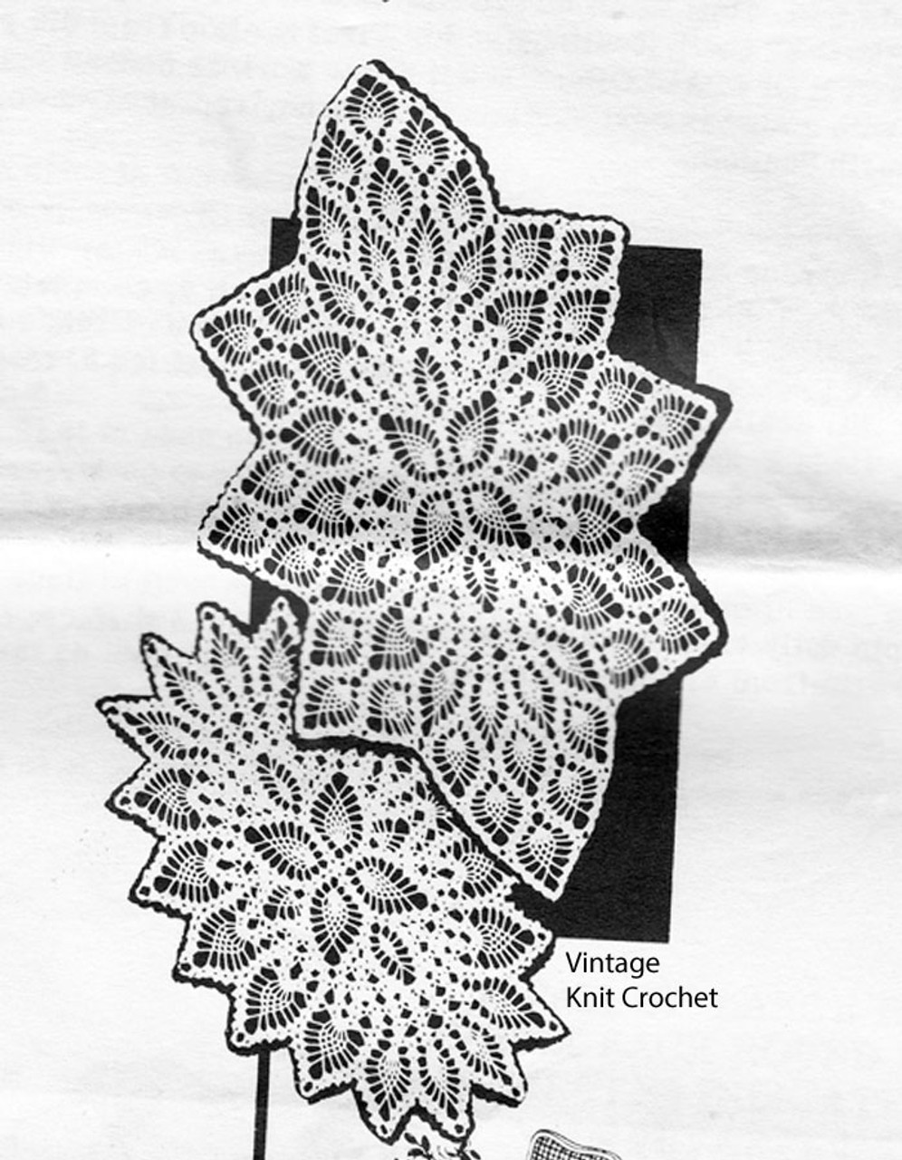 Vintage Oval Doilies Pattern, small medium large, Mail Order Design 660